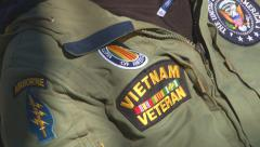 Old Vietnam War vet celebrates Veterans Day in Virginia (Clip 2 of 10) Stock Footage