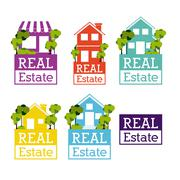 Real State Vector  Illustration Stock Illustration