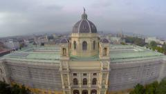 National Vienna Museum Natural History aerial shot architecture - stock footage