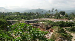 Pan from mining around the village, Digana, Central Province, Sri lanka Stock Footage