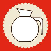 Coffee design over red background, vector illustration Stock Illustration