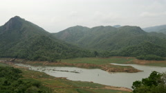 Central Province river and mountains landscape, Sri lanka Stock Footage