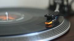 Needle on vinyl record player - stock footage