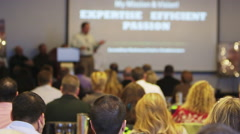 Business conference with speaker blurry 2 Stock Footage