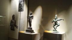 Shenzhen Museum of India World Sculpture Exhibition Stock Footage