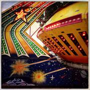 Close up of spinning amusement park ride Kuvituskuvat