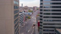Afternoon timelapse of 103 avenue in downtown Edmonton, Alberta Stock Footage