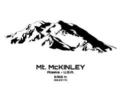 Stock Illustration of illustration of mt. Mckinley