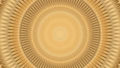 Hypnotic golden mandala loopable - 1080p Stock Footage