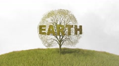 Text earth the tree falling leaves Arkistovideo