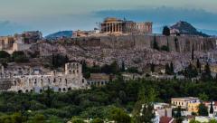 Parthenon temple on Athenian Acropolis, Athens, Greece - stock footage