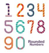 Numbers design over white background, vector illustration Piirros