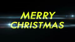 Merry Christmas Text in Particles - stock footage