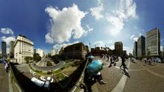 The Viaduct Viaduto do Cha in Sao Paulo, Brazil Stock Footage