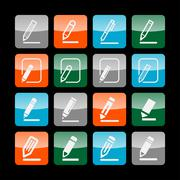 edit icons - stock illustration