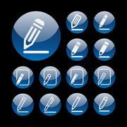 Edit icons Stock Illustration