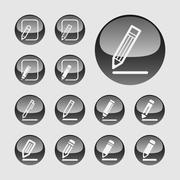 Stock Illustration of edit icons