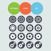 setting icons - stock illustration