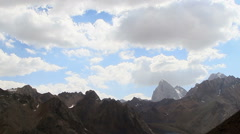 Clouds in the mountains. Time Lapse, Pamir Stock Footage