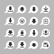 download icons - stock illustration
