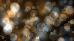 Golden yellow champagne bubbles party abstract background Stock Footage