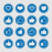 like icons - stock illustration