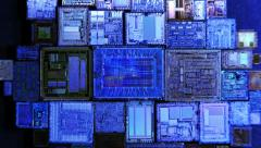 Real Silicon crystals chips Stock Footage