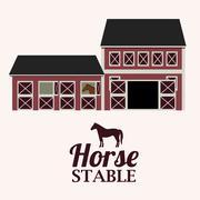 Barn design over white background, vector illustration Stock Illustration
