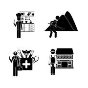 occupations design over white background, vector illustration - stock illustration