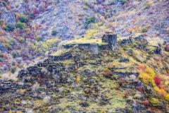 ruined fortress in armenia - stock photo