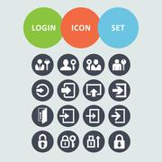 login icons - stock illustration