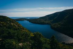view from north bubble, in acadia national park, maine. - stock photo
