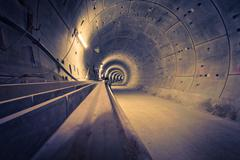 Hamburg illuminated under construction train tunnel HDR Stock Photos