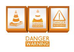 danger design over white background, vector illustration - stock illustration