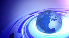 Globe on blue business background. Stock Footage