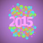 Celebration 2015 concept on violet background Stock Illustration