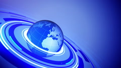 Globe with space for your text. Stock Footage
