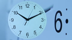 Clocks time-lapse with seconds hand. Quartz - stock footage