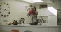 Father playing with daughter Stock Footage