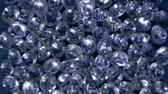 Lot of diamonds, close up Stock Footage