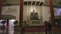 Sun Yat-sen Memorial Hall - Statue - Dolly shot Stock Footage