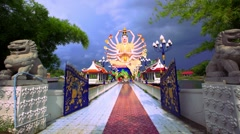 Koh Samui, Thailand. 20 july 2014. Time lapse of Shiva statue. HD. 1920x1080 Stock Footage