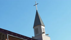 2513 Country Church and Blue Sky, 4K Stock Footage
