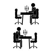 Human activities over white background vector illustration Piirros