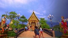Thailand, Koh Samui. 20 july 2014. Buddhist pagoda, part of temple complex Wat Stock Footage