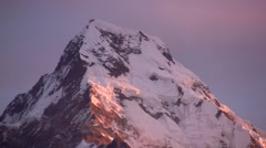 Sunset in the himalayas mountains Stock Footage