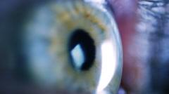 Eye iris and pupil macro Stock Footage