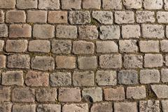 Old cobbled street background Stock Photos