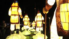 Chinese lanterns known as Yuanxiao Festival, Year of the Snake Taiwán-Taipei-Dan - stock footage