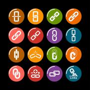 Link icons Stock Illustration